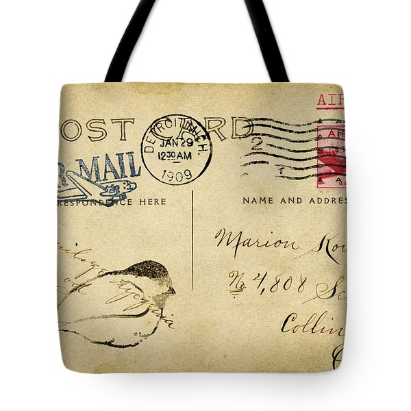 Detroit Sketch 1909 Tote Bag