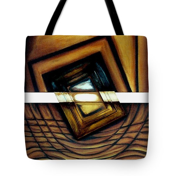 Tote Bag featuring the painting Deversity View by Fei A