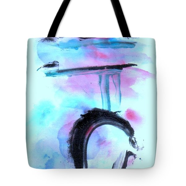 Tote Bag featuring the painting Devil Dance by Lesley Fletcher