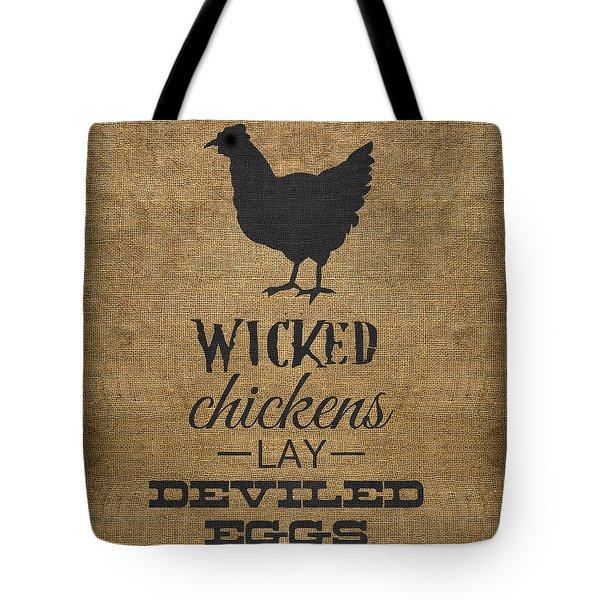 Deviled Eggs Tote Bag