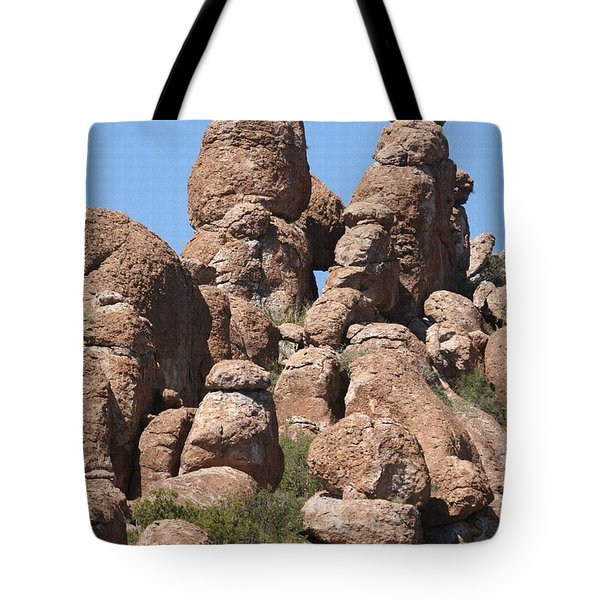 Tote Bag featuring the photograph Devils Canyon Wall by Tom Janca