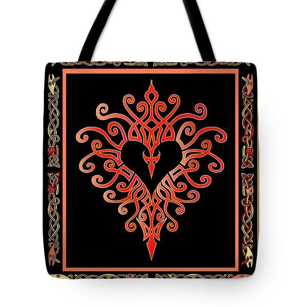 Tote Bag featuring the digital art Devil's Heart by Vagabond Folk Art - Virginia Vivier
