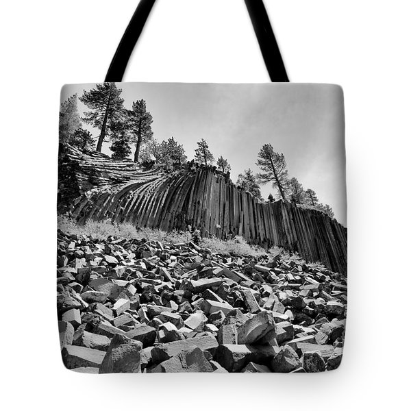 Devils Postpile National Monument Tote Bag by Terry Garvin