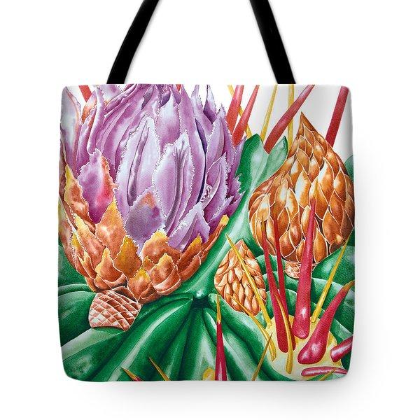 Devil's Tongue Cactus Flower Tote Bag