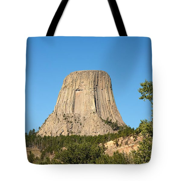 Tote Bag featuring the photograph Devils Tower by John M Bailey