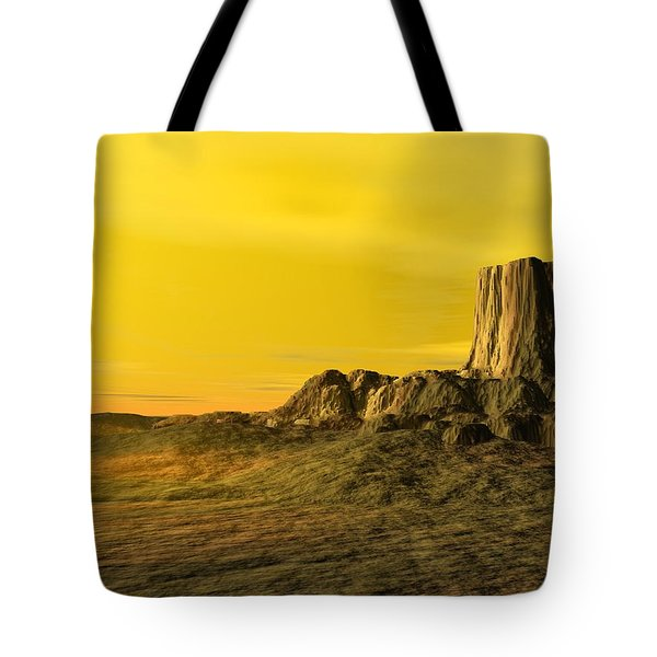 Devils Tower Tote Bag by John Pangia