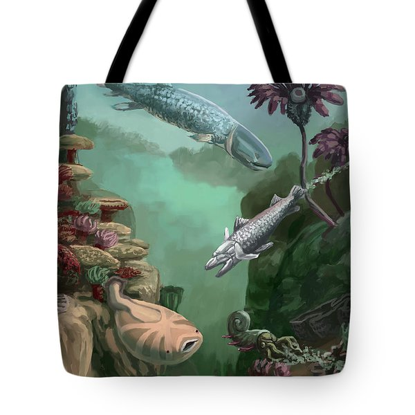 Devonian Period Tote Bag by Spencer Sutton