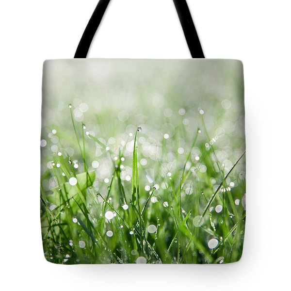 Dew Drenched Morning Tote Bag by Jan Bickerton