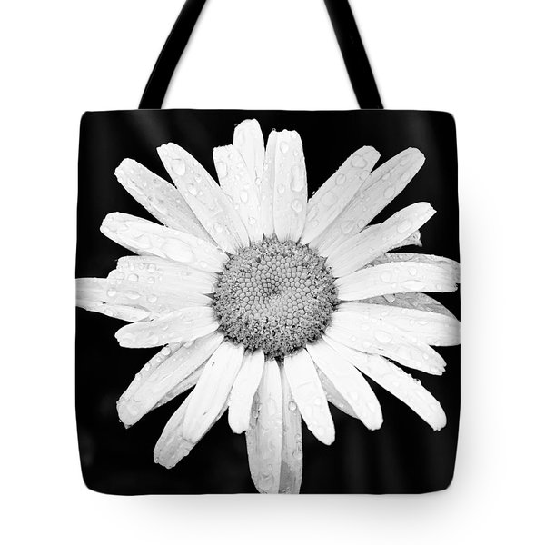 Dew Drop Daisy Tote Bag by Adam Romanowicz