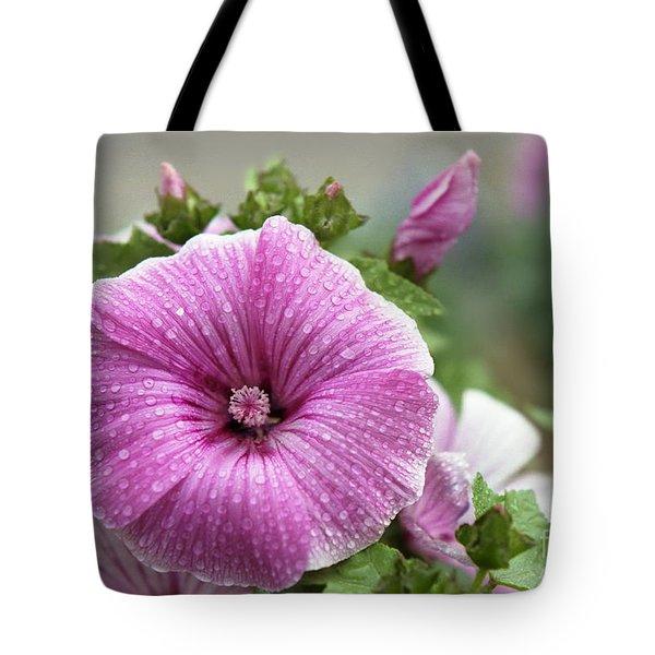 Dew Drop Petals Tote Bag