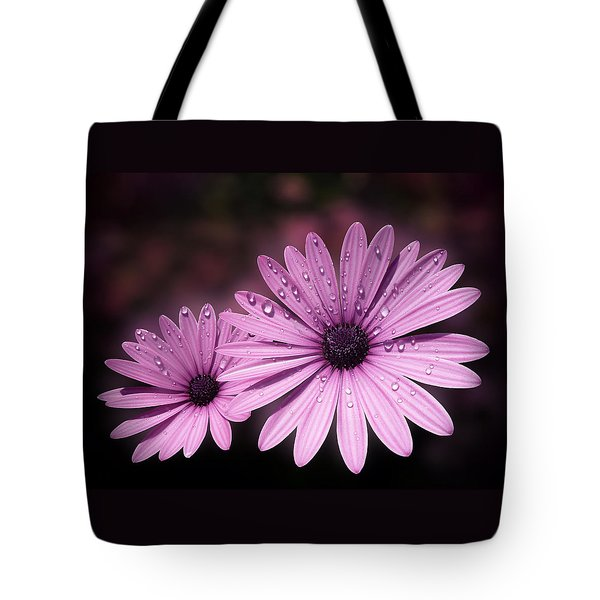 Dew Drops On Daisies Tote Bag