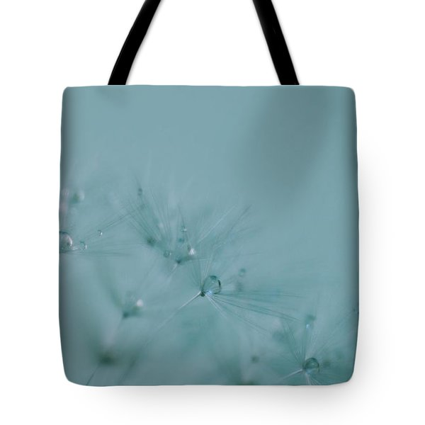 Dew Drops On Dandelion Seeds Tote Bag