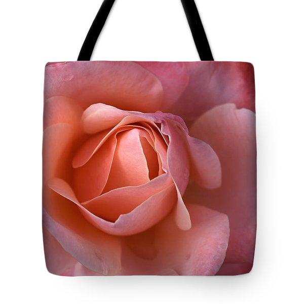 Dew Drops On My Petals Tote Bag by Joy Watson