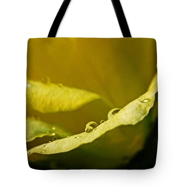 Dew Drops On Yellow Tote Bag