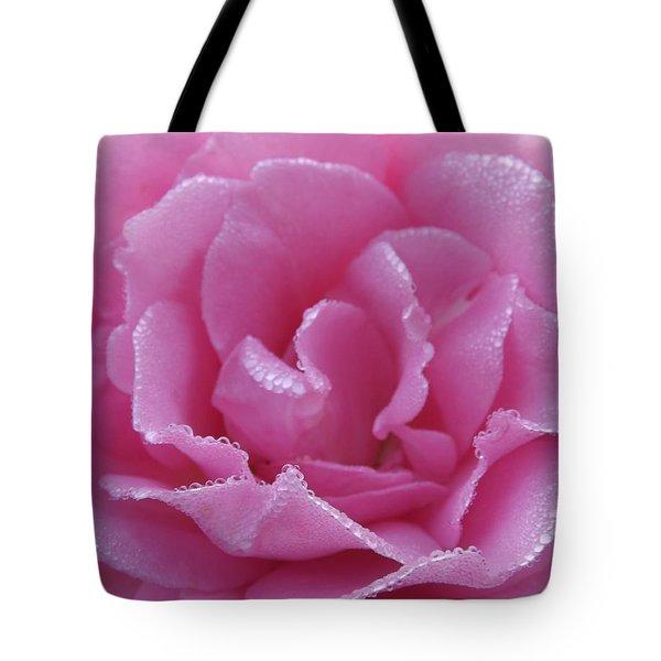 Dew Kissed Rose Tote Bag by Sara  Raber