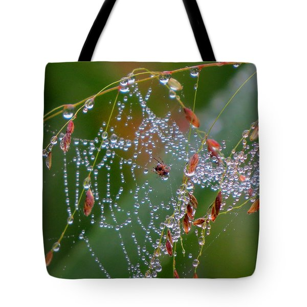 Tote Bag featuring the photograph Dewdrop Inn by Dianne Cowen