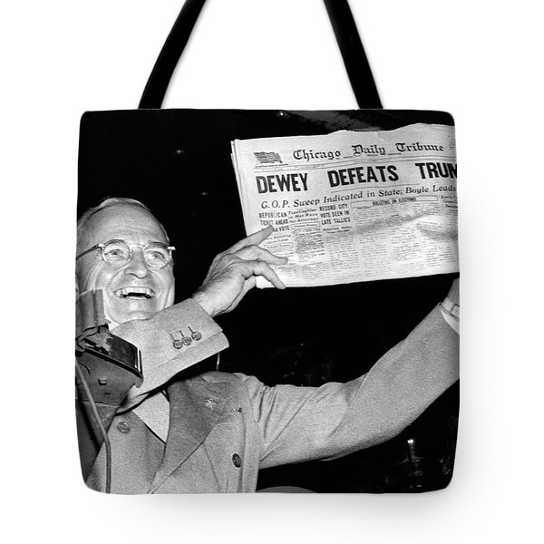 Dewey Defeats Truman Newspaper Tote Bag by Underwood Archives