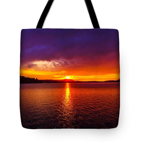 Dexter Lake Oregon Sunset 2 Tote Bag