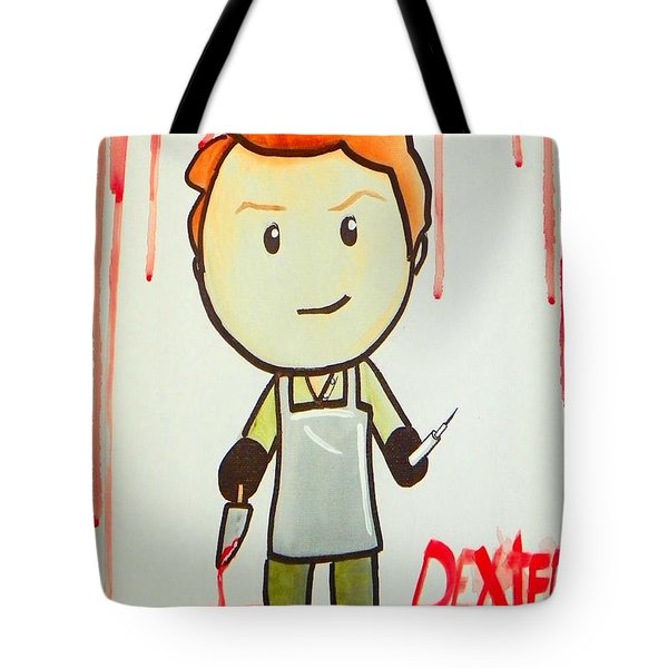 Tote Bag featuring the painting Dexter by Marisela Mungia
