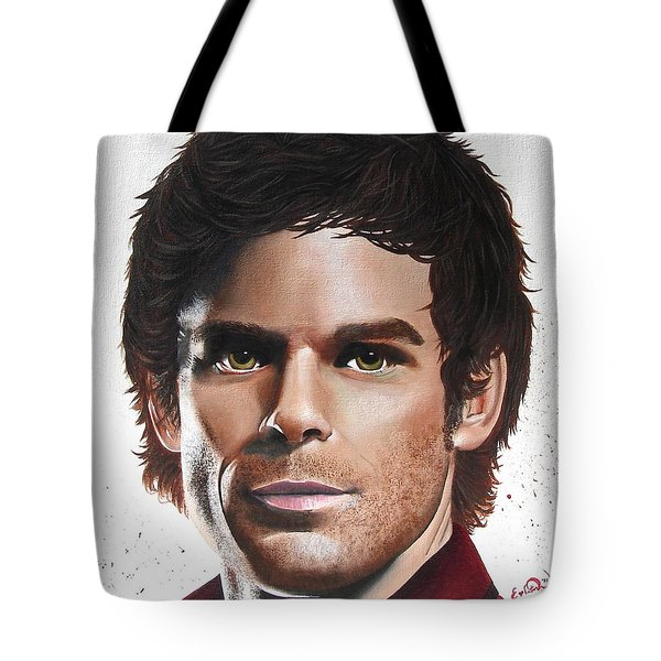 Dexter Tote Bag by Oddball Art Co by Lizzy Love