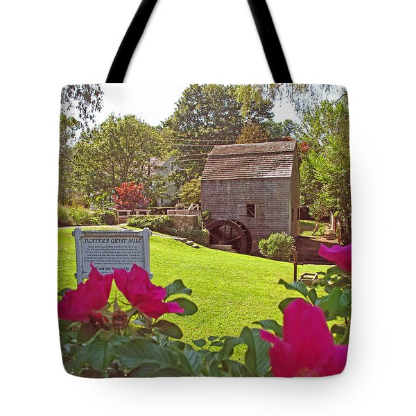 Dexters Grist Mill Two Tote Bag by Barbara McDevitt