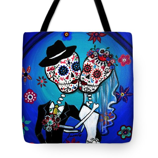 Dia De Los Muertos Kiss The Bride Tote Bag