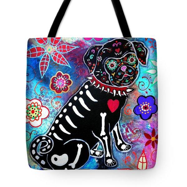 Dia De Los Muertos Pug Tote Bag