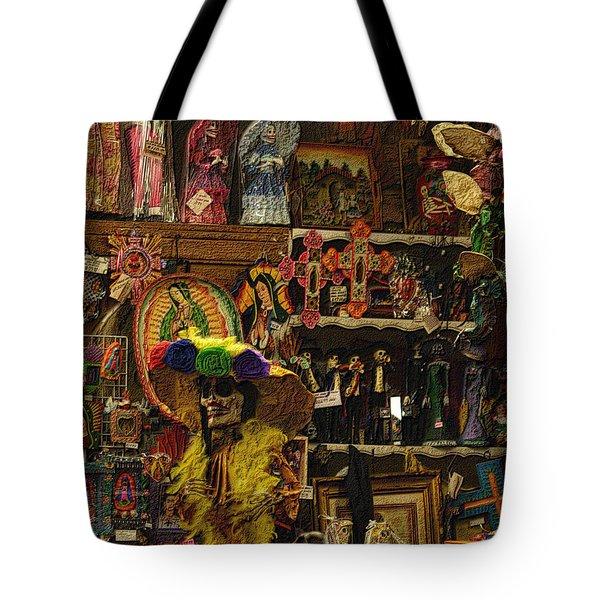 Dia De Muertos Shop Tote Bag by Nadalyn Larsen