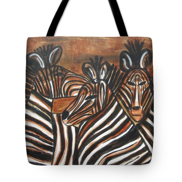 Zebra Bar Crowd Tote Bag