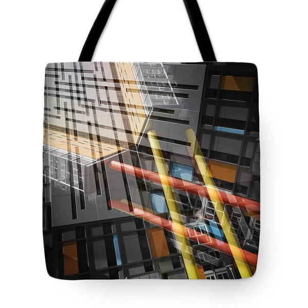 Diagonal Mondrian Tote Bag