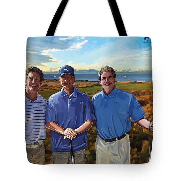 Tote Bag featuring the painting Diamante Golf by Tim Gilliland