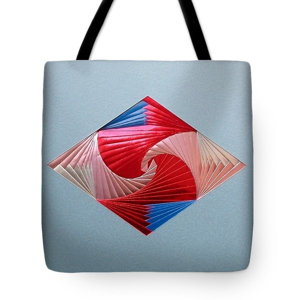 Tote Bag featuring the mixed media Diamond Design by Ron Davidson