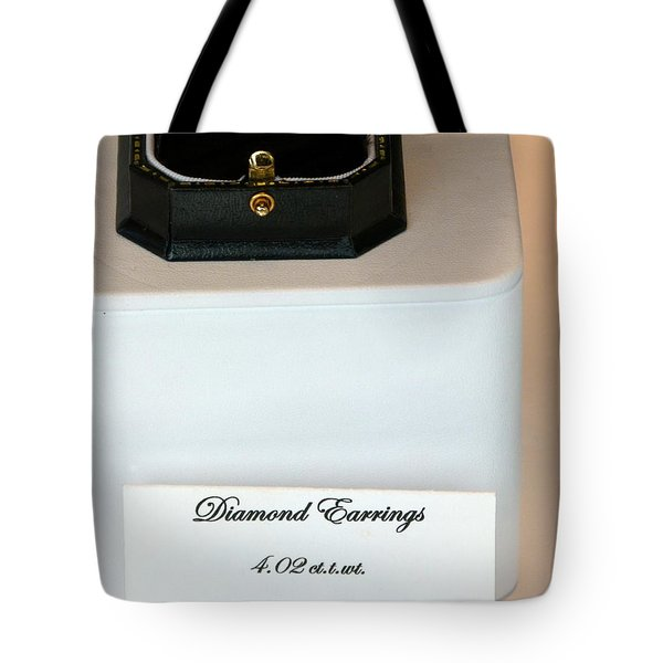 Diamond Earrings On Sale Tote Bag