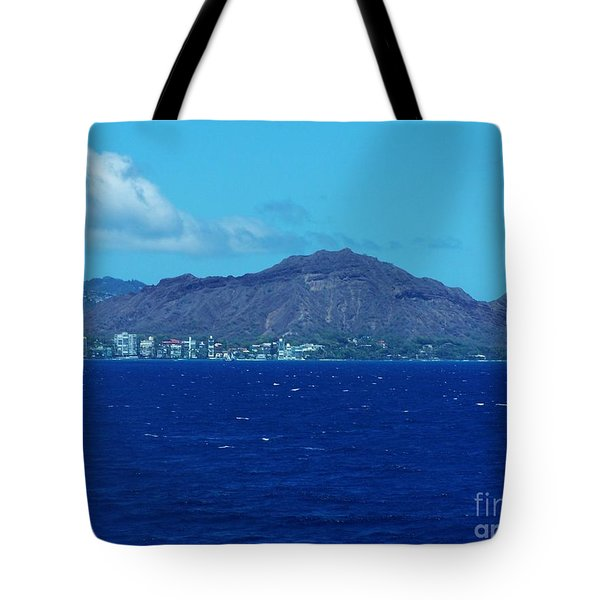 Diamond Head Oahu Tote Bag