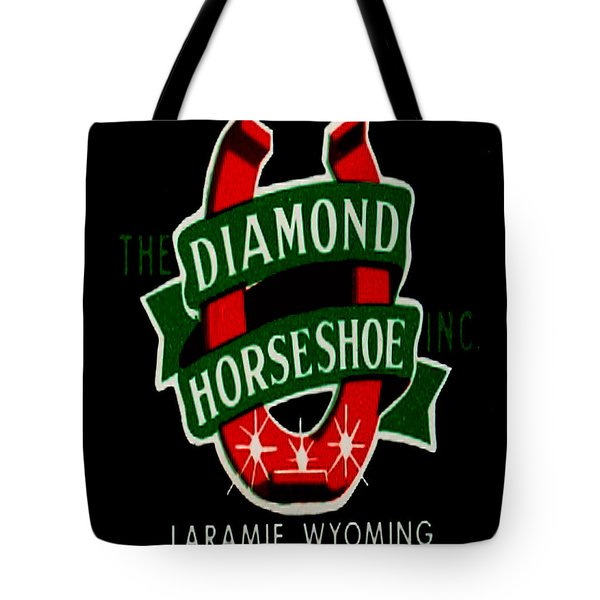 Tote Bag featuring the digital art Diamond Horseshoe by Cathy Anderson