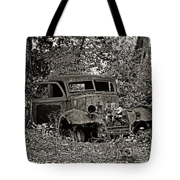 Tote Bag featuring the photograph Diamond T by Betty Depee