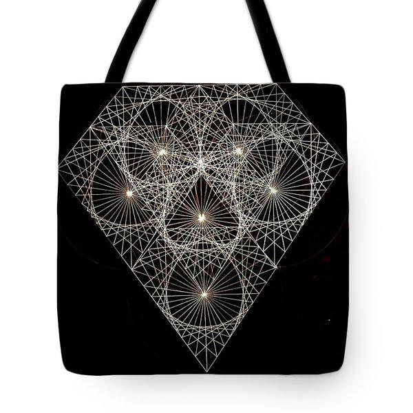 Diamond White And Black Tote Bag