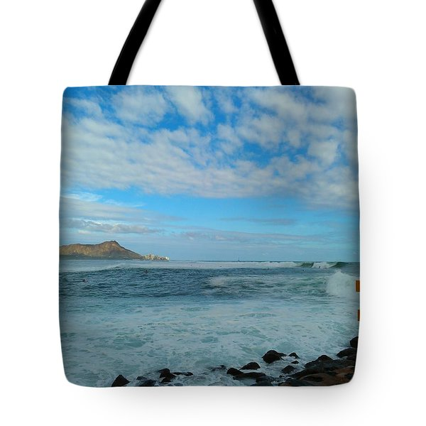 Diamondhead And A Yellow Fence Tote Bag