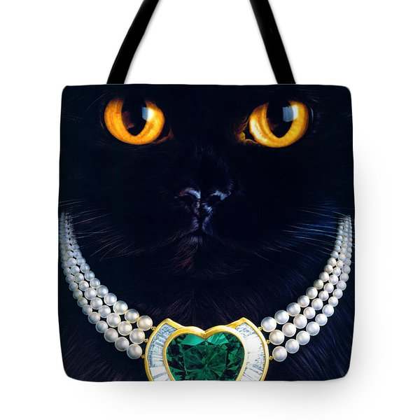 Diamonds Are A Cats Best Friend Tote Bag by Andrew Farley