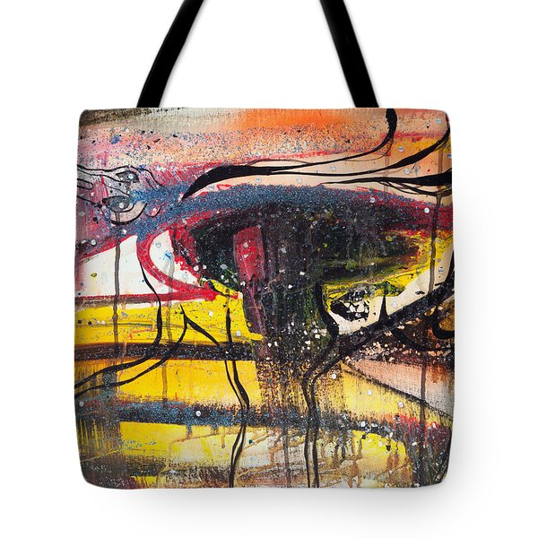 Diamonds On The Face Of Evil II Tote Bag by Sheridan Furrer
