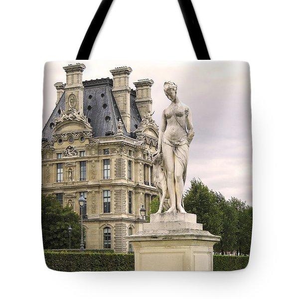 Diana Huntress Tuileries Garden Tote Bag by Victoria Harrington