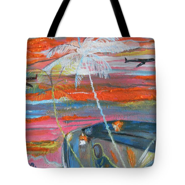 Tote Bag featuring the painting Diaspora  -  Coming Home by Mudiama Kammoh
