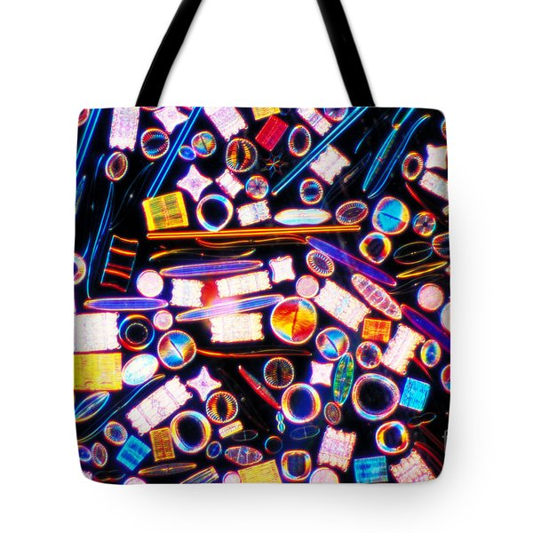 Diatom Arrangement Tote Bag by Kent Wood