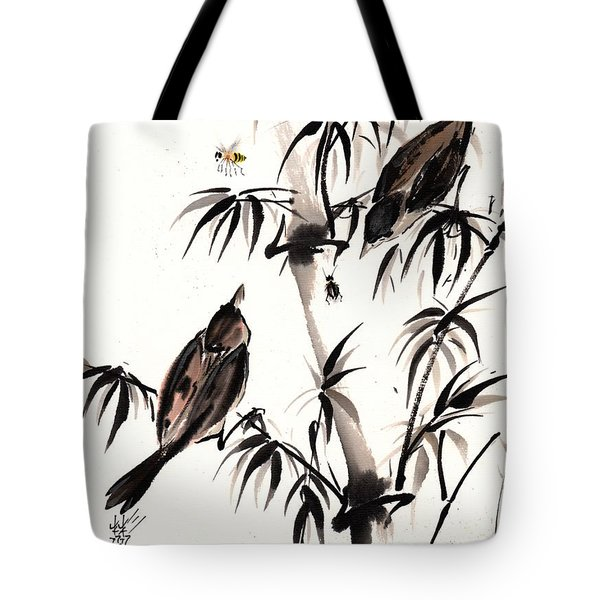 Tote Bag featuring the painting Dibs by Bill Searle