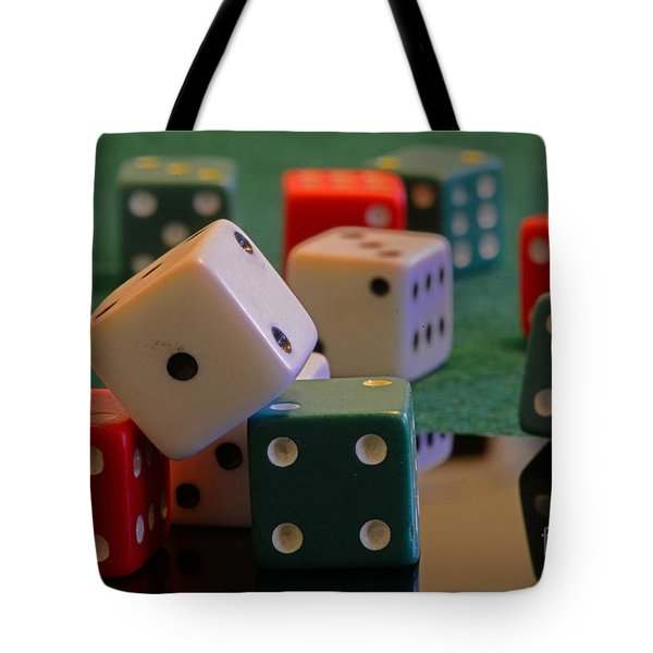 Dice Tote Bag by Paul Ward