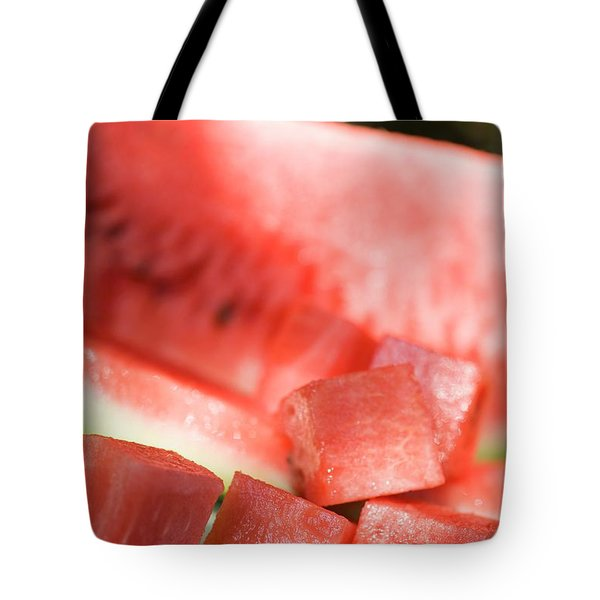 Diced Watermelon Tote Bag