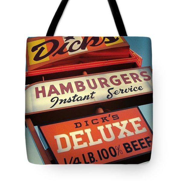 Dick's Hamburgers Tote Bag