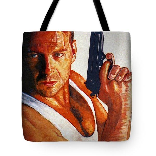 Die Hard Tote Bag by Michael Haslam