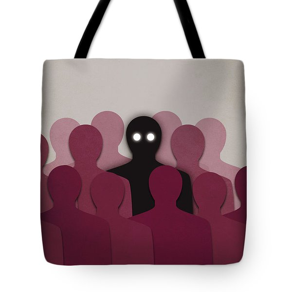 Different And Alone In Crowd Tote Bag
