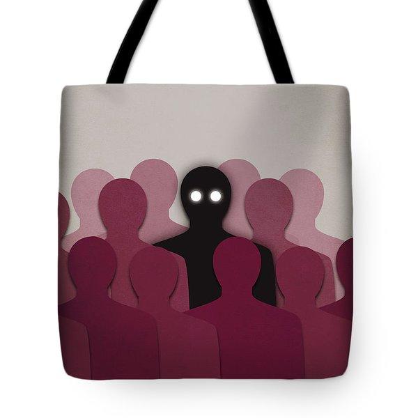 Different And Alone In Crowd Tote Bag by Boriana Giormova